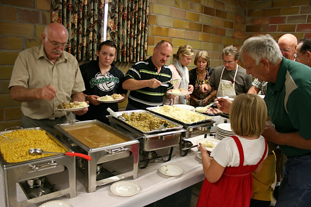 Diners dish up at last year's fall dinner at Trinity Lutheran Church, North Morristown.
