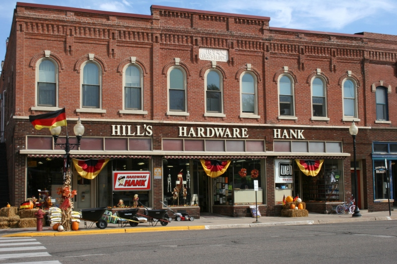 "Nothing says ""small town"" like a hardware store, including this Hardware Hank in downtown Wabasha."