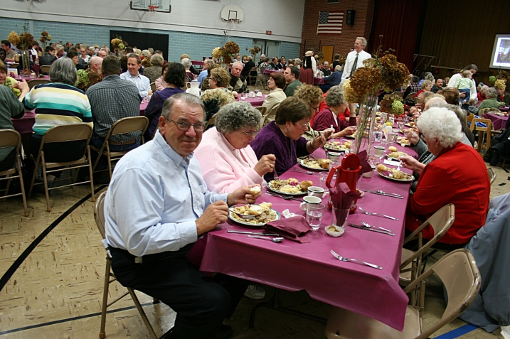 Diners enjoy the ethnic meal at the second annual CVLHS German Fest in 2011.