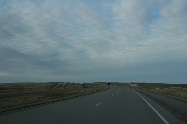 Interstate 94 sometimes seems to run right into the sky as you drive west.