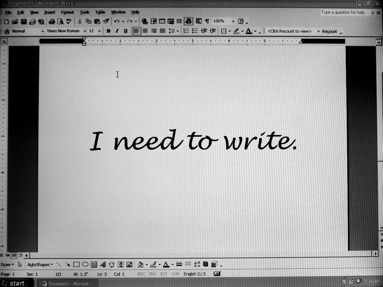 I want to write an essay