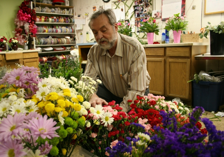 Rick Morris, owner of Waseca Floral for 40 years. Minnesota Prairie Roots file photo, February 2012.