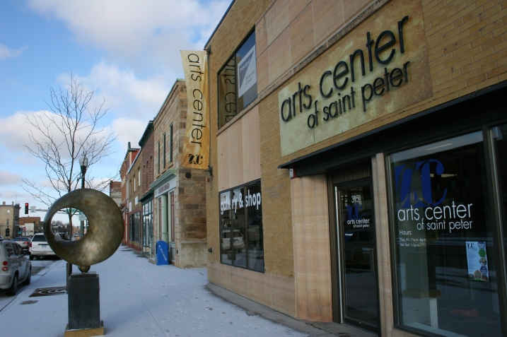 The Arts Center of Saint Peter, 315 South Minnesota Avenue, St. Peter, Minnesota.
