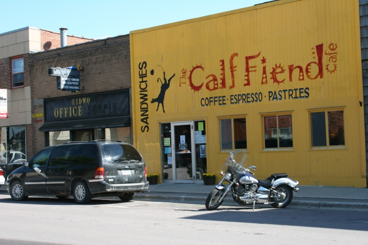 I grew up on a dairy farm and the color of the Calf Fiend in Redwood Falls reminds me of calves, but not in a positive way.