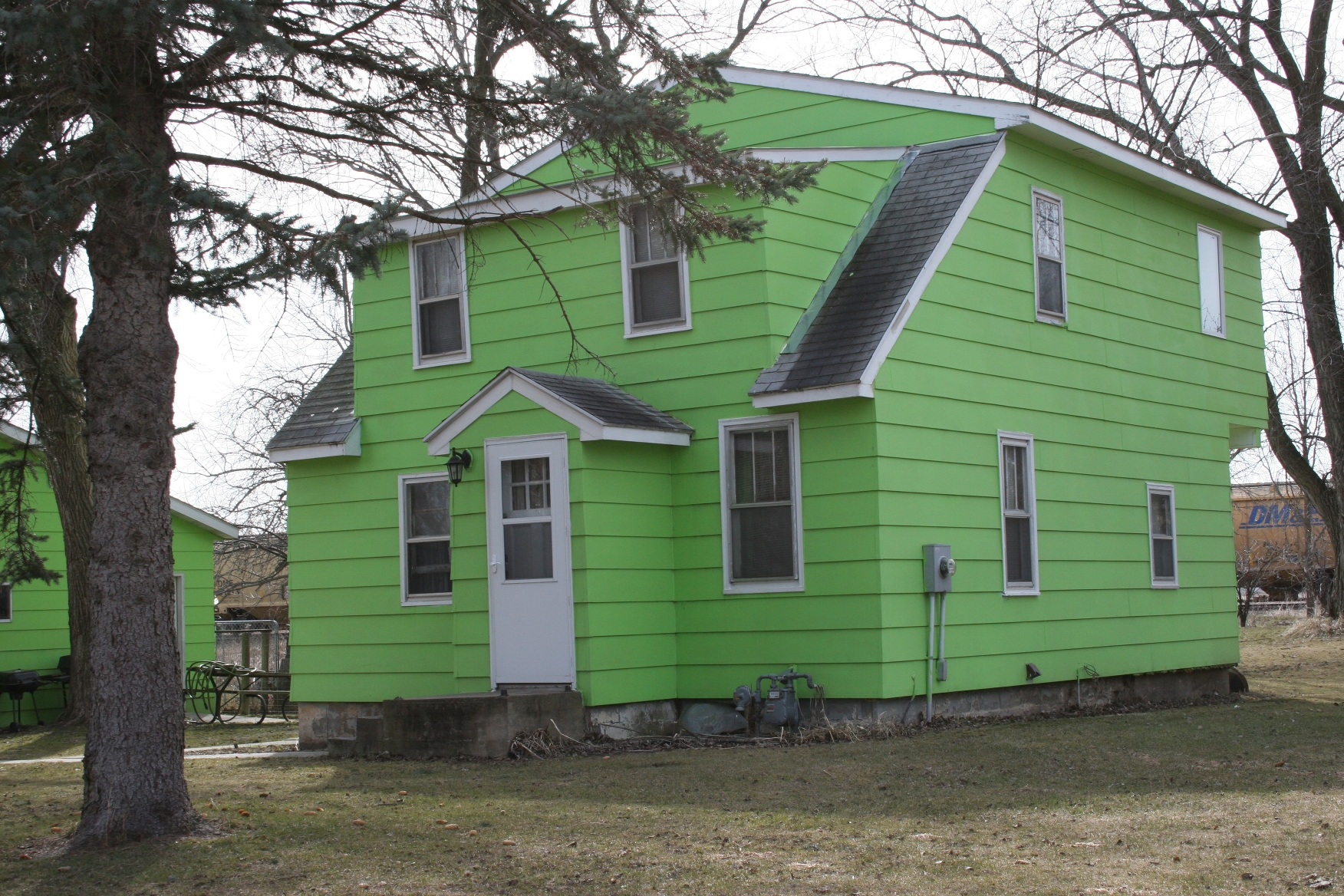 Green Painted House Pictures