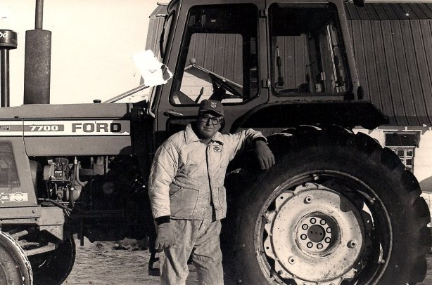 Dad farmed, in the early years with a John Deere and Farmall and IH tractors and later with a Ford. (Photo by Lanae Kletscher Feser)