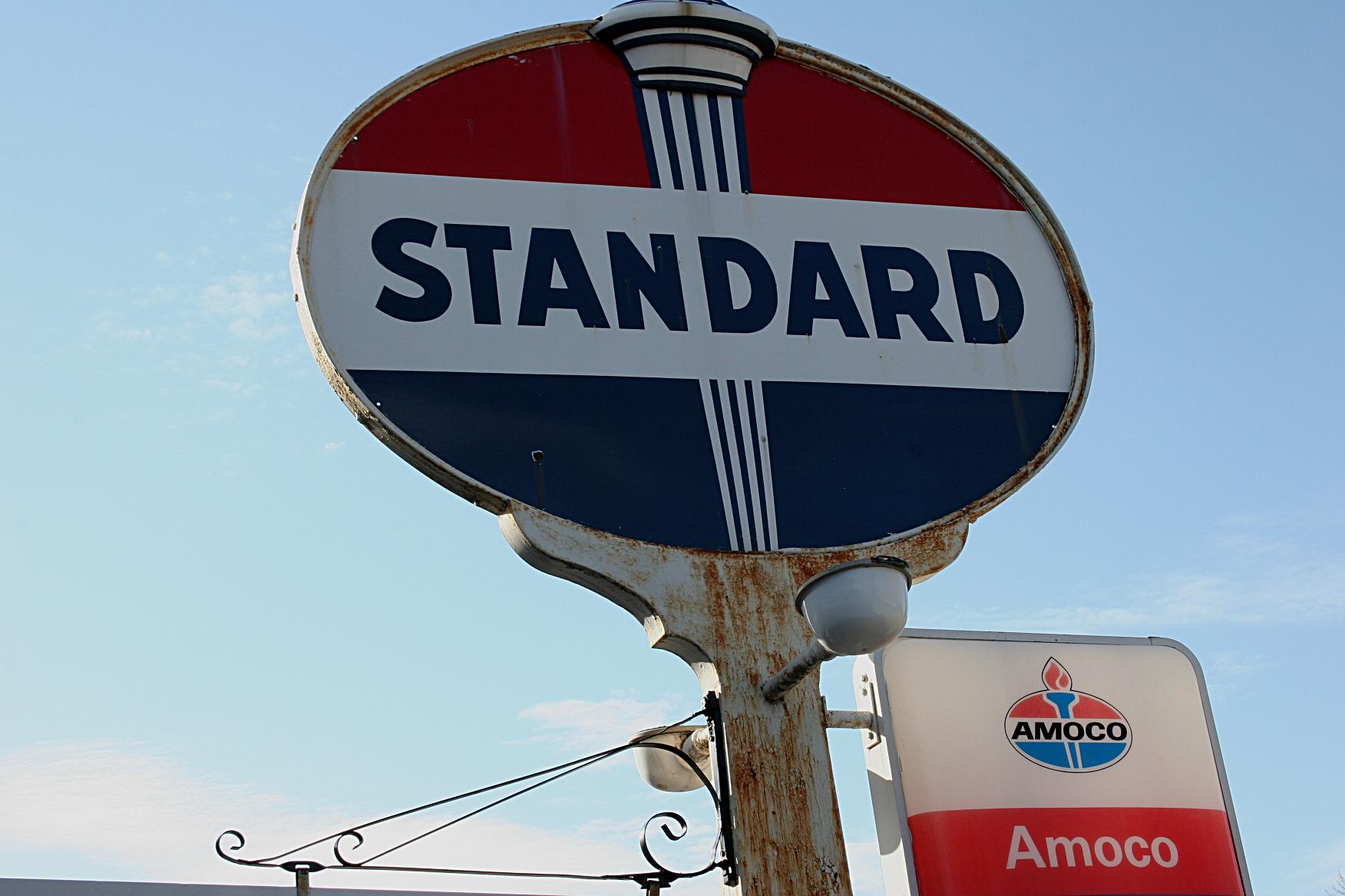 Vintage Standard Oil Sign Minnesota Prairie Roots
