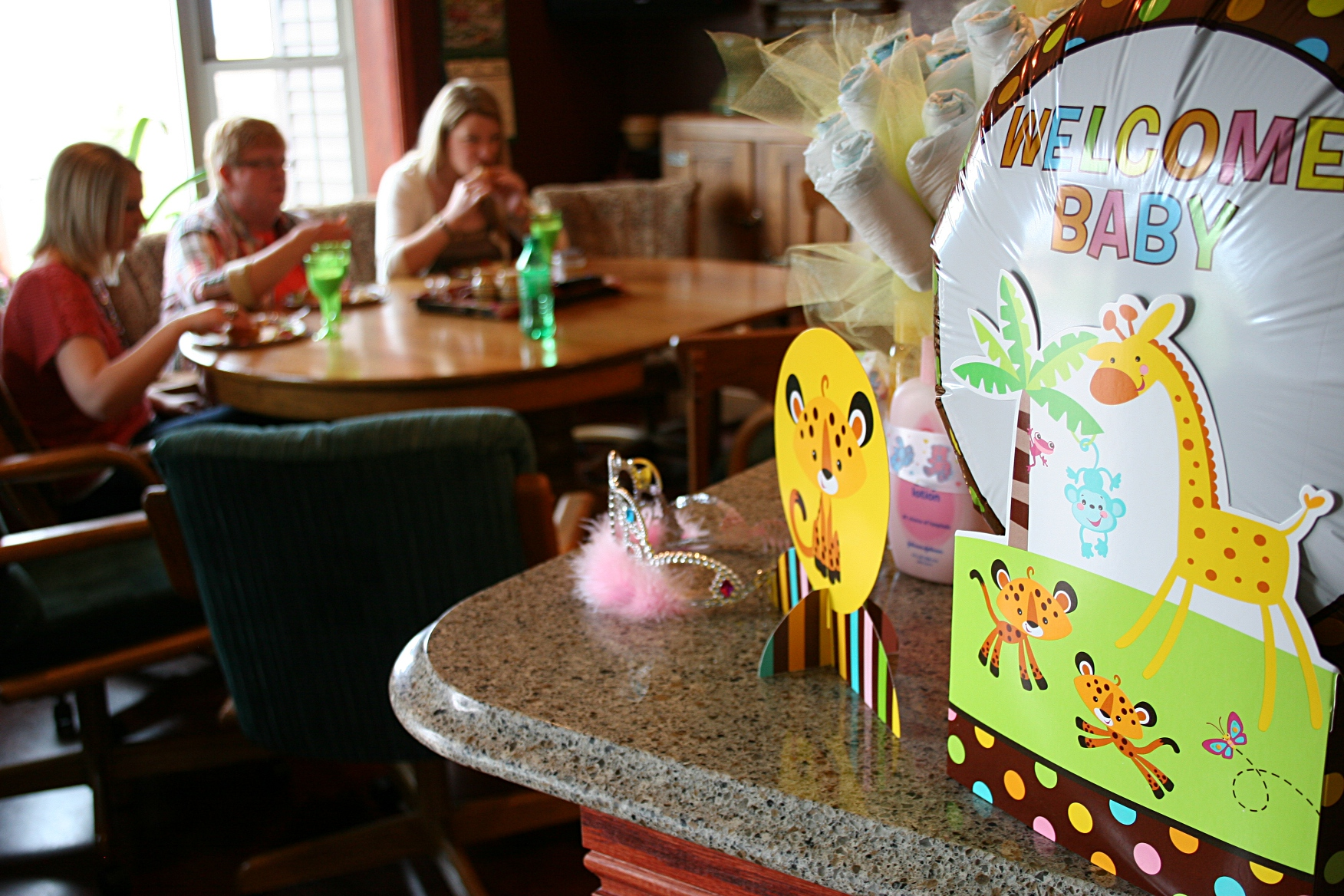 Fancy fancy food at a baby shower minnesota prairie roots for Baby welcome decoration ideas