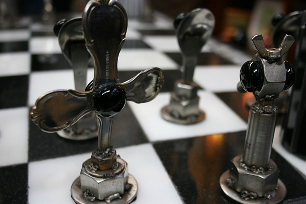 making chess pieces from wood