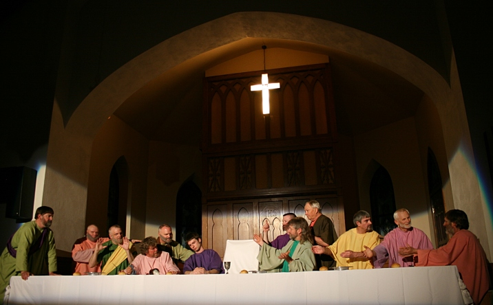 St. John's 50th presentation of The Last Supper Drama in the sanctuary.