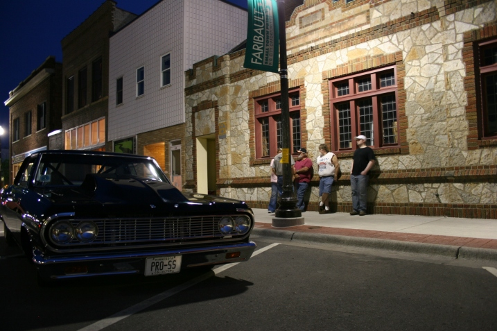 Hanging out along Central Avenue during Faribault Car Cruise Night in May.