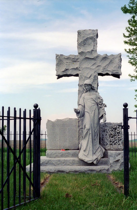 The Milford State Monument along Brown County Road 29 west of New Ulm commemorates the deaths of 52 settlers who were killed in the area. Located along the eastern edge of the Lower Sioux Reservation, Milford had the highest war death rate of any single township.
