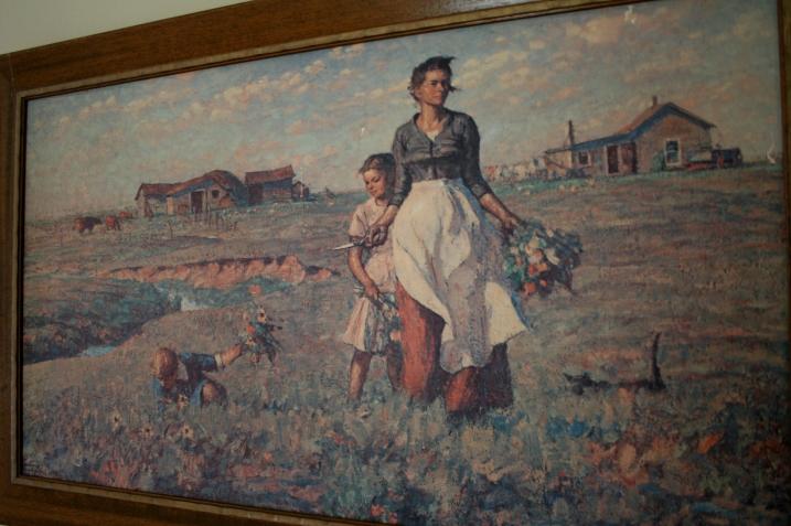 """A print of Harvey Dunn's """"The Prairie is my Garden."""""""