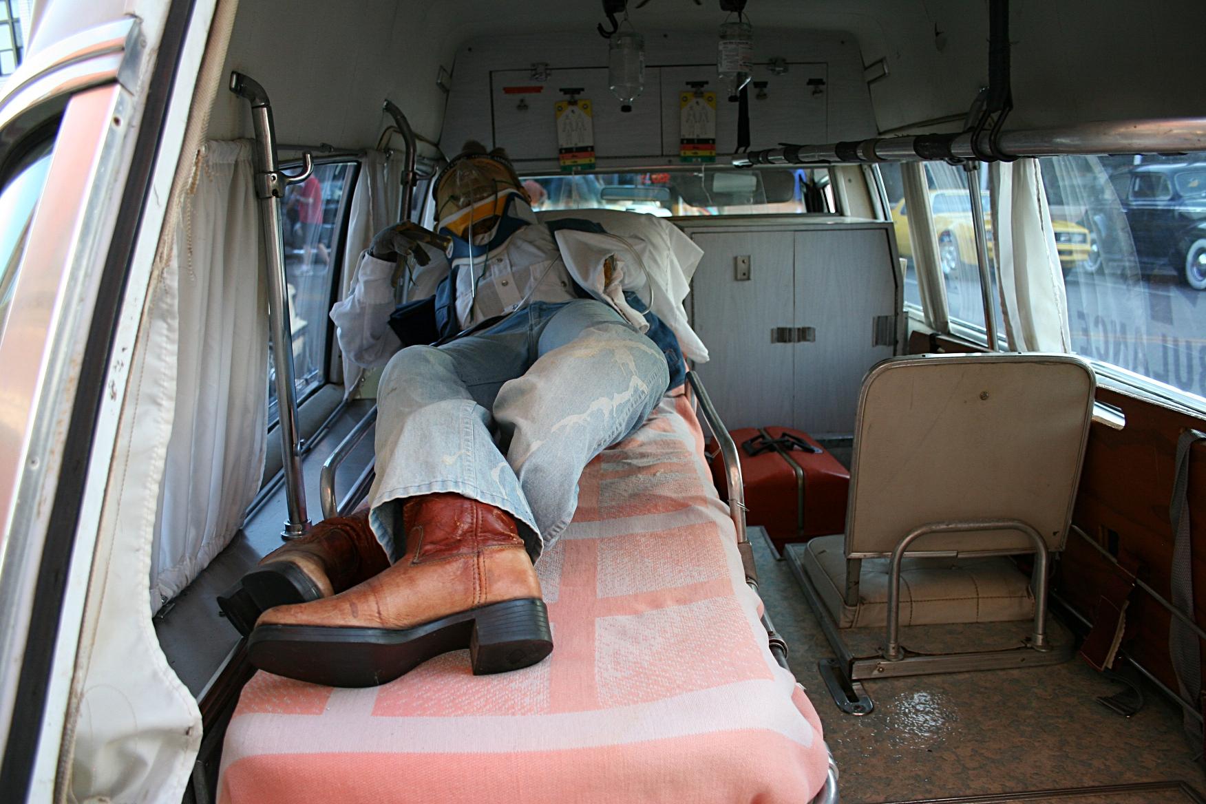 Ambulance insideInside Ambulance Truck