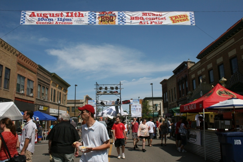 With the weather about as good as it gets on a summer day, attendance was high at the Blue Collar BBQ & Arts Fest.