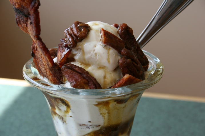 Singing Hills Coffee Shop's delicious maple bacon sundae.