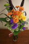 Dinner, flowers