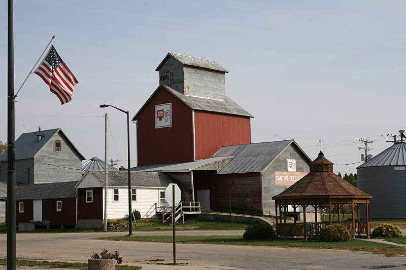 An overview of Canton's historic area. Minnesota Prairie Roots file photo 2012.