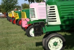 Pink tractor close-up