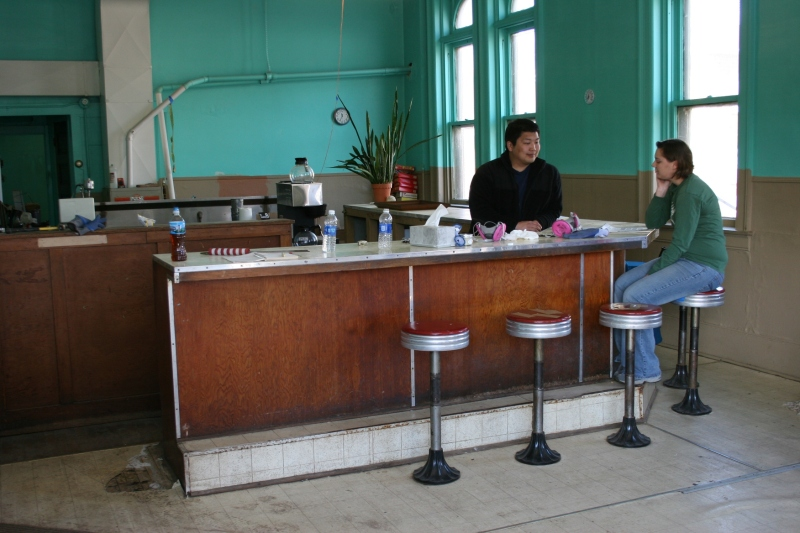 The Van Engens had planned to use the original lunch counter in their coffee shop. Minnesota Prairie Roots file photo from October 2012.
