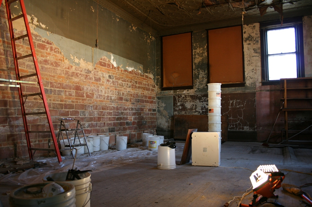 The Van Engens began working on this back space last fall in an area intended for entertainment and an artists' haven.