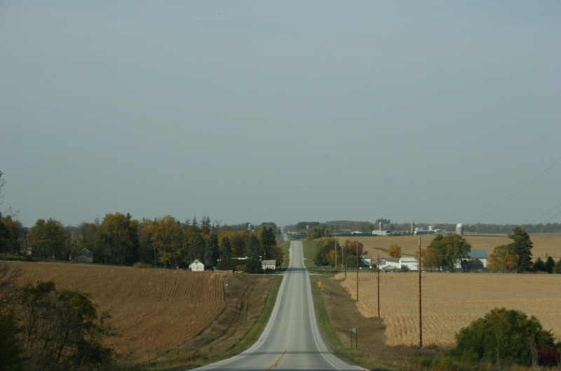 Driving Fillmore County Road 21 north of Canton toward Henrytown then west to Dennis and Mary Hershberger's farm. This is deep in Minnesota Amish country.