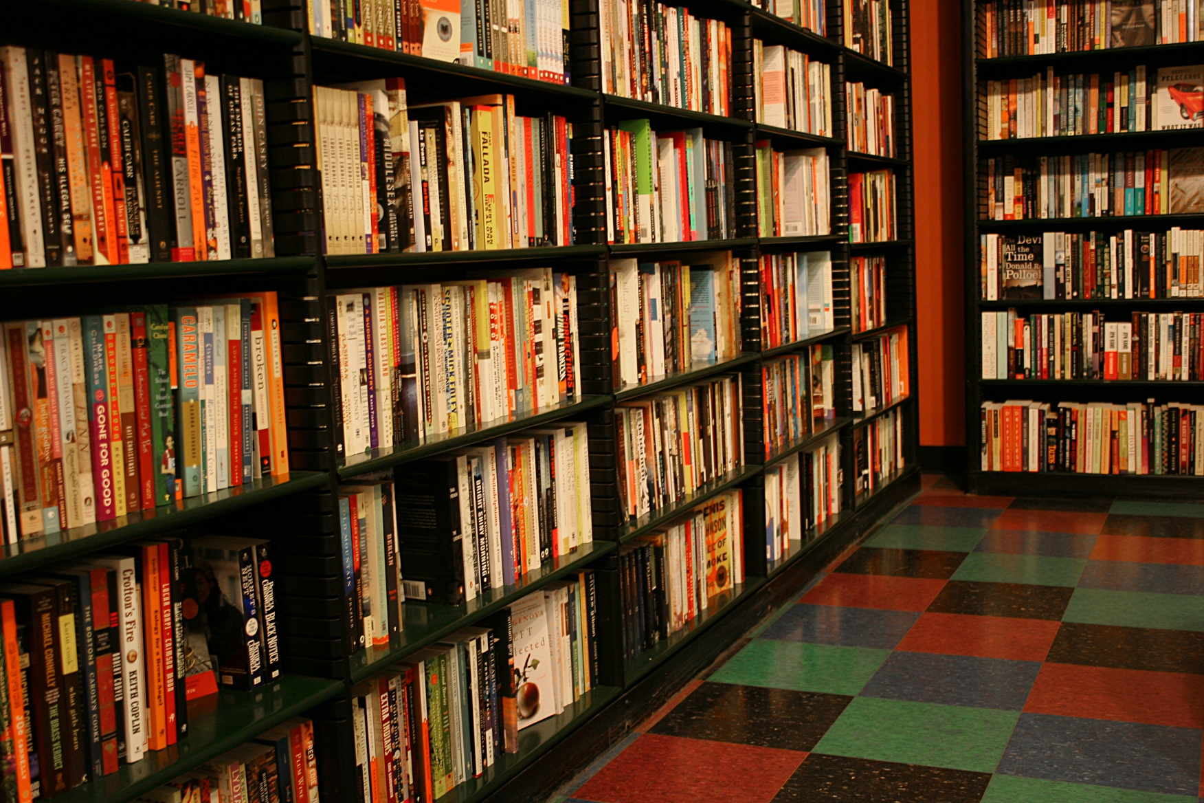 a snippet of the many bookshelves - Bookshelves For Bookstores