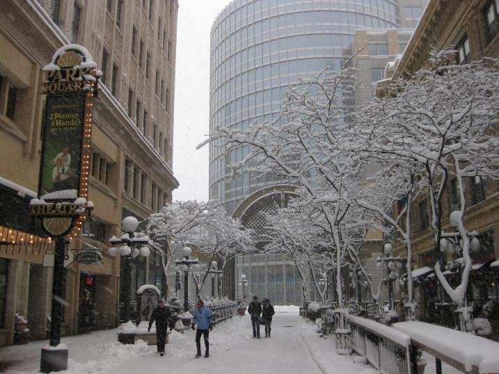 Marc Schmidt shot this stunning photo of 7th St. Marketplace in downtown St. Paul early this afternoon.