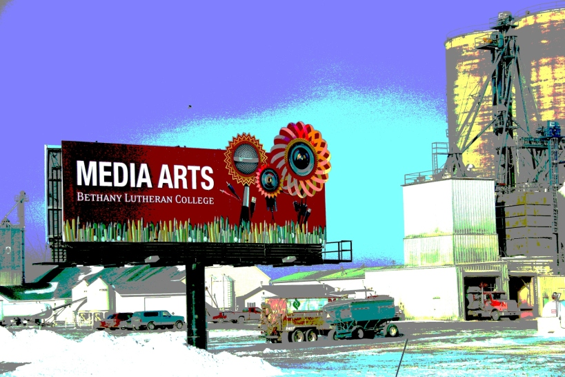 I did my own editing on this recent photo of a Bethany billboard along U.S. Highway 14.