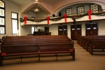 Church, back andpews