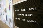 Church, faith sign