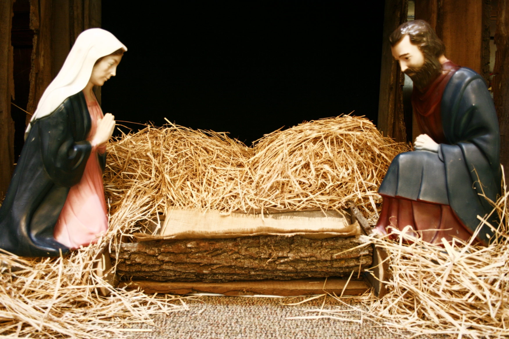 Editing tools were applied to this photo of Mary and Joseph, lending a dreamy quality to the image.