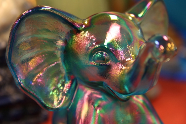 Except for resizing, I've done nothing with this photo of a glass elephant.