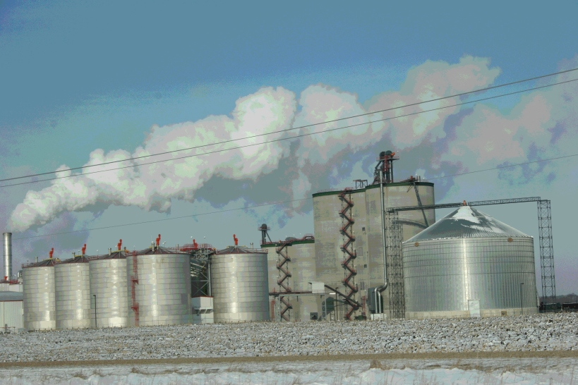 The ethanol plant near Janesville on a cold December morning.
