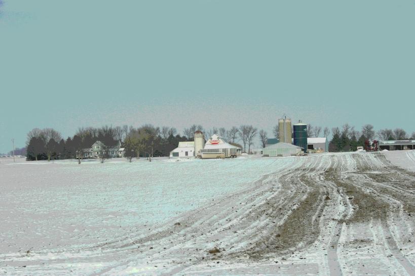 One of my favorite barns along U.S. Highway 14, west of Sleepy Eye.