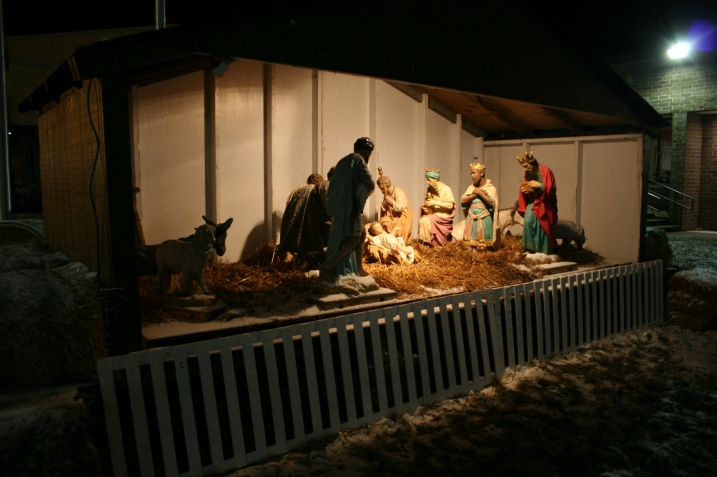 This Nativity scene has graced the lawn of Buckham Memorial Library and the Faribault Community Center for all the years I have lived in my southeastern Minnesota community, which would be 30.