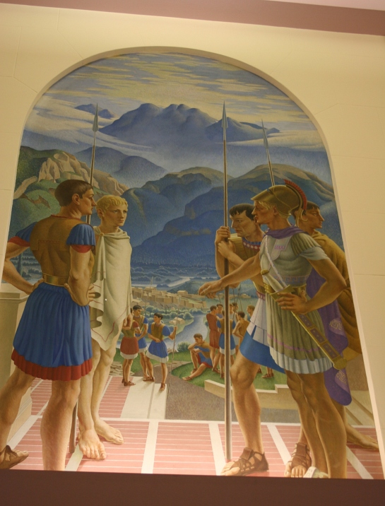 One of several Greek murals gracing the Great Hall.