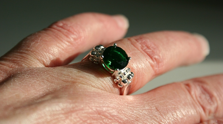 "The final ring, an ""emerald,"" to replace the one I lost nearly 50 years ago."