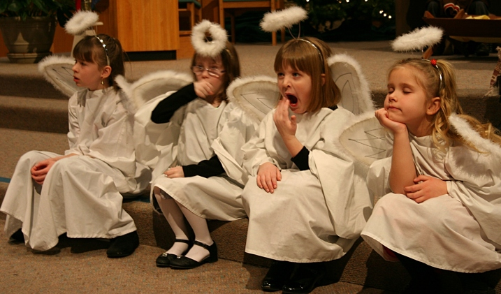 Every little girl wants to portray an angel...