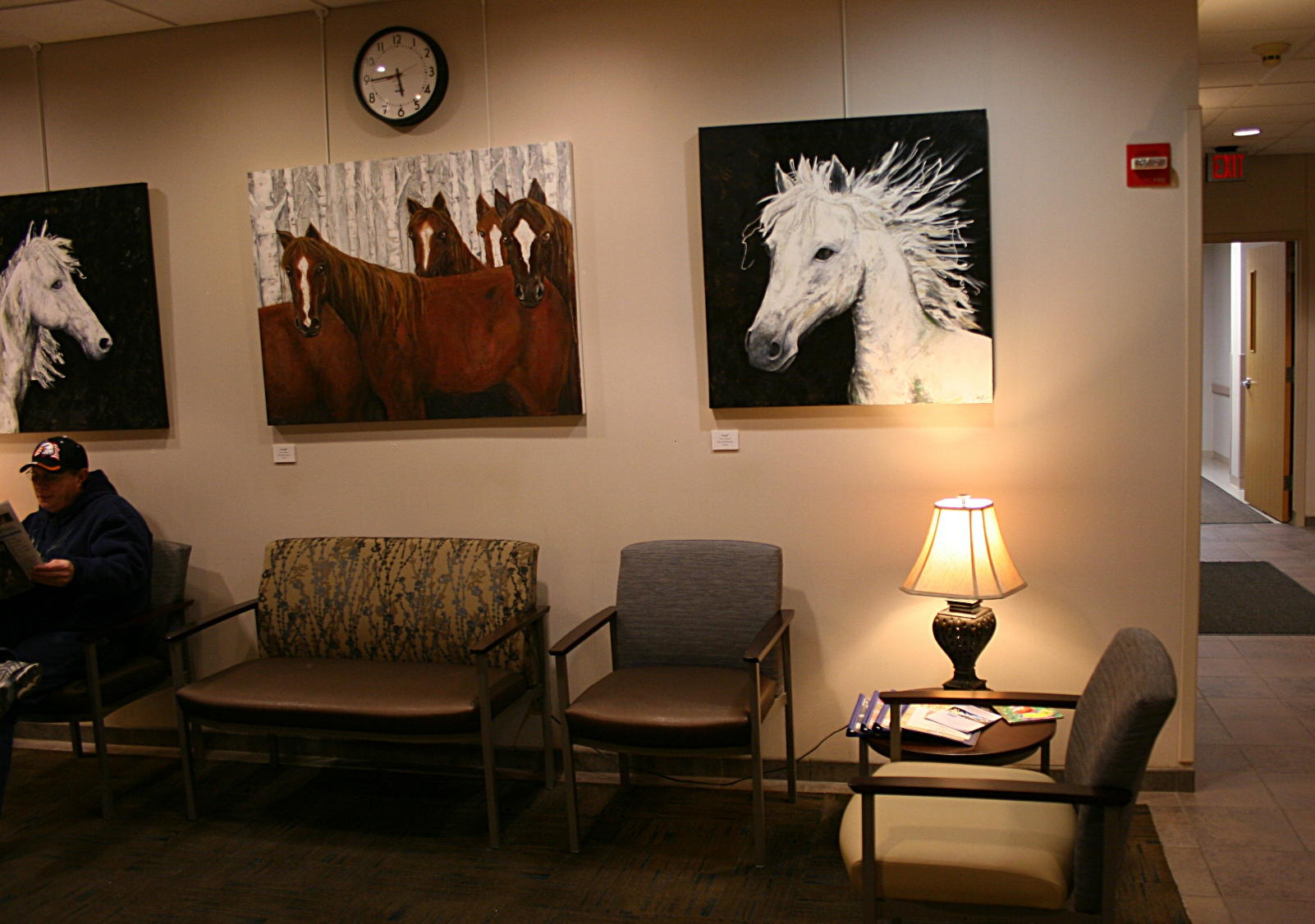 Three of Jody Hanscom's horse portraits.