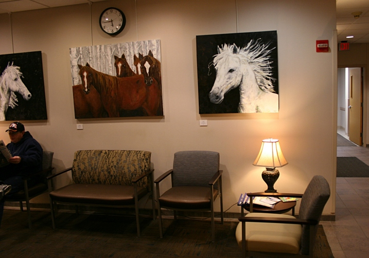 Three of Jody Hanscom's horse portraits.