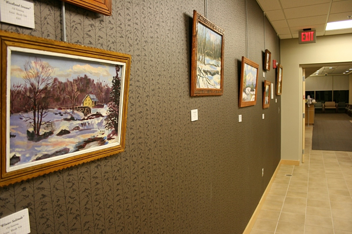 Twenty-five of Rhody Yule's oils grace the hall and patient rooms in the cancer center.