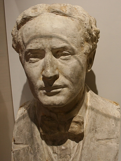 A Houdini bust in the museum.