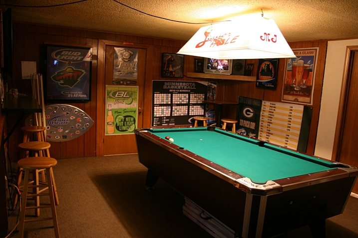 No pool players yet early on a Saturday evening.