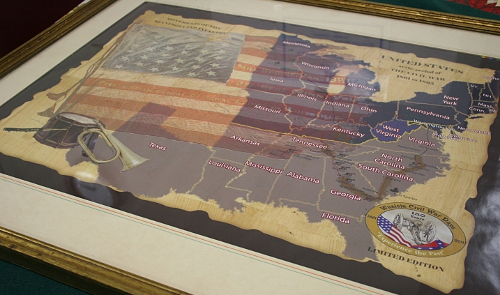 A close-up of the 2nd Minnesota Civil War puzzle, made to commemorate Wasioja Civil War Days.