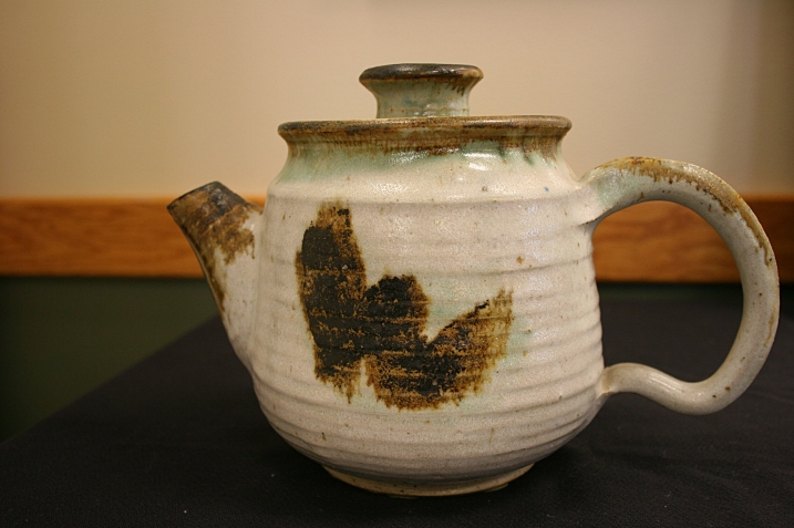 Potter Missy Wood created this teapot for the Souper Bowl silent auction.