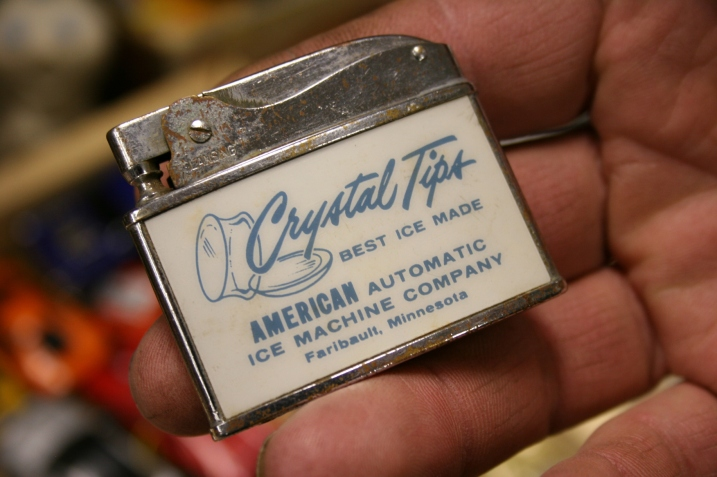 We were tempted to buy this lighter from Faribault, for a business we'd not heard of, but the $18 price was more than we wanted to pay.