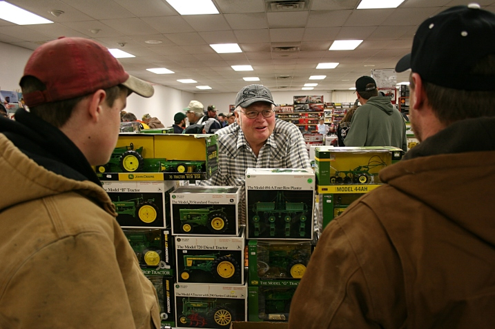 Vending John Deere toy tractors.