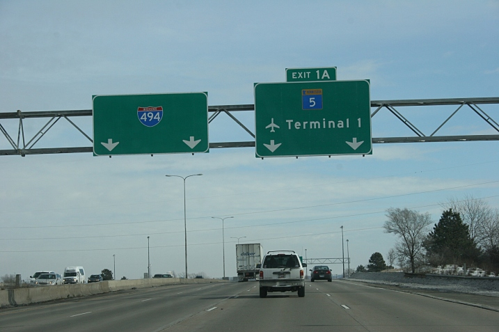 On the way to the Minneapolis-St. Paul International Airport.