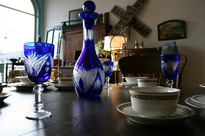 Love that cobalt blue in glassware showcased at Diamonds in the RUST.